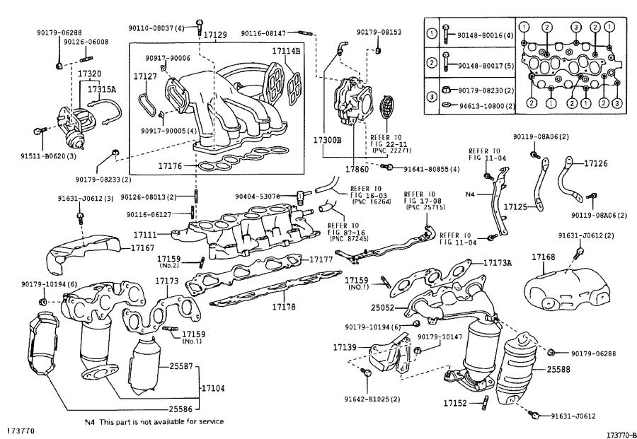 Lexus Es 330 Insulator  Manifold Converter  No  3  California  Exhaust  Engine