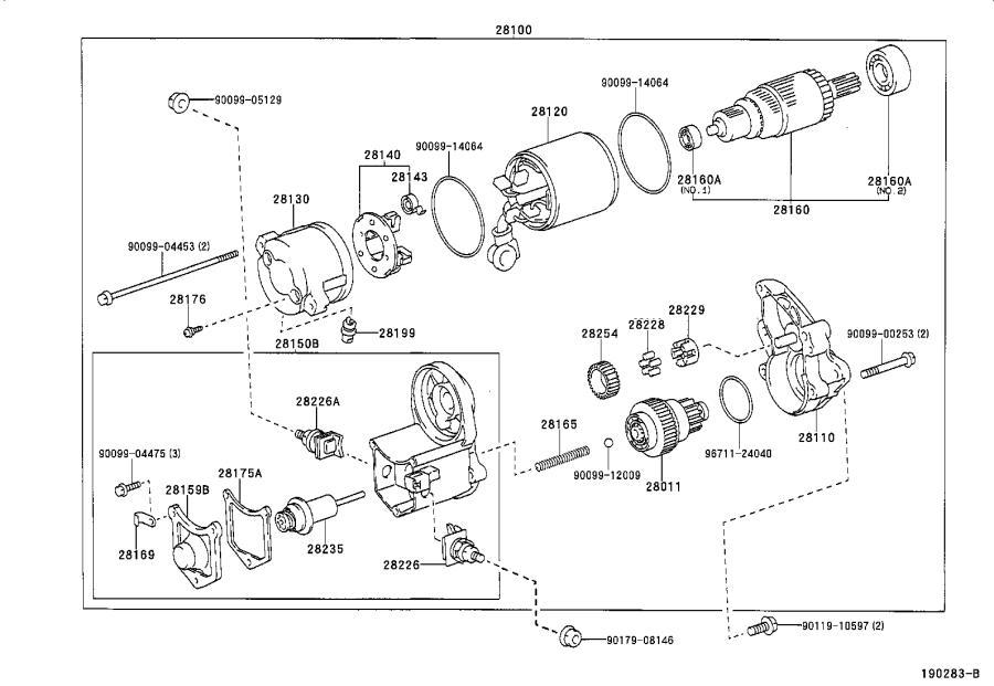 lexus ls 400 armature assembly  starter