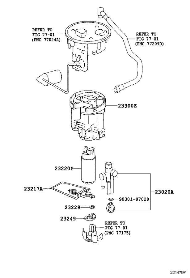 Lexus Ls 430 Filter  Fuel Pump  Cranks