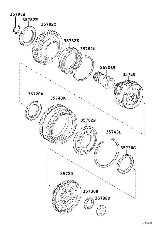 lexus es 350 flange  planetary ring gear