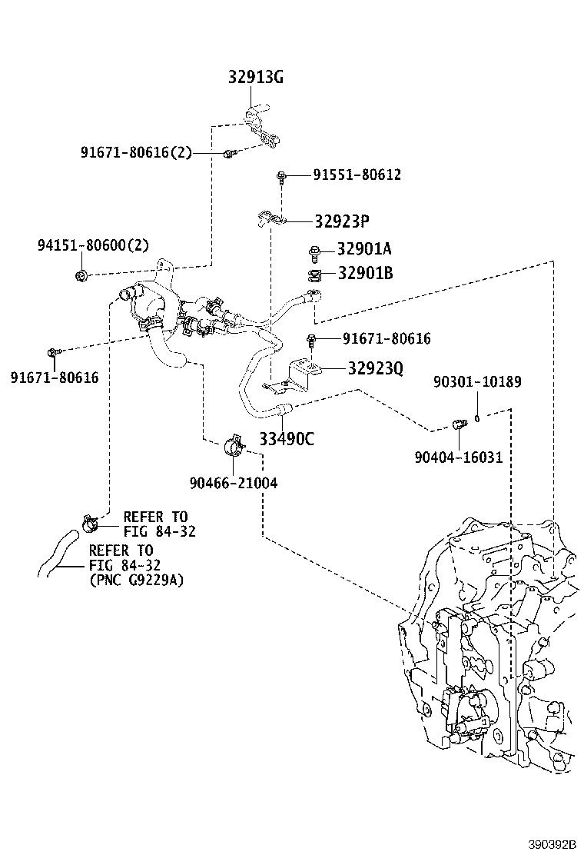 Lexus Nx 300h Automatic Transmission Oil Cooler Hose Banjo
