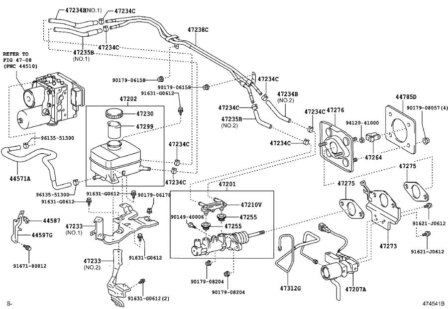 Lexus Rx 400h Clamp  Brake Actuator Hose  Engine  Brakes