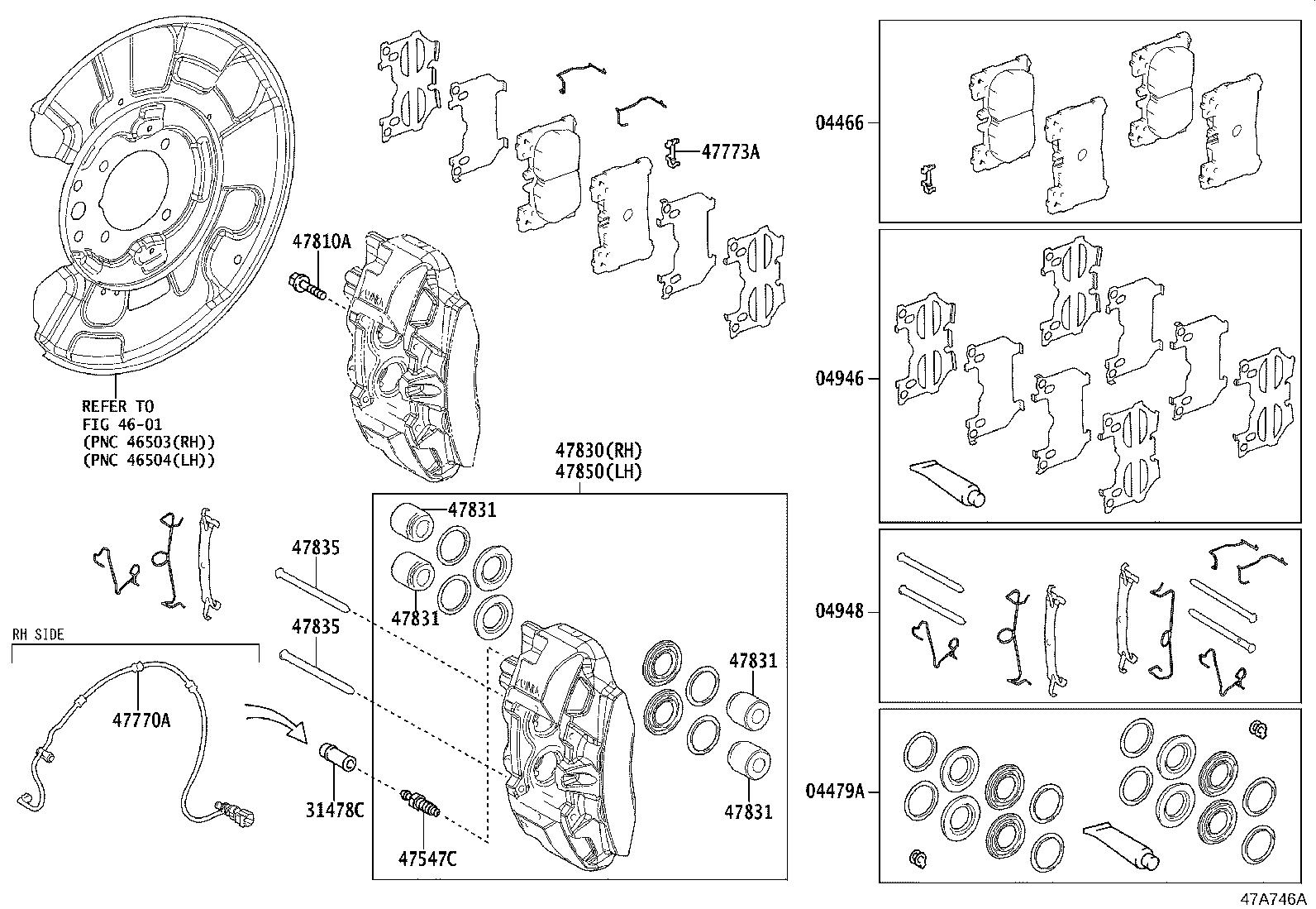 Lexus Lc 500 Cylinder Assembly  Disc Brake  Rear Right