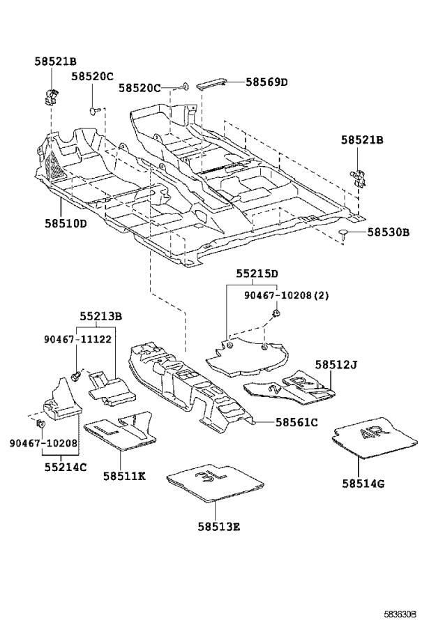 Lexus Hs 250h Plate  Mat Set  Upper