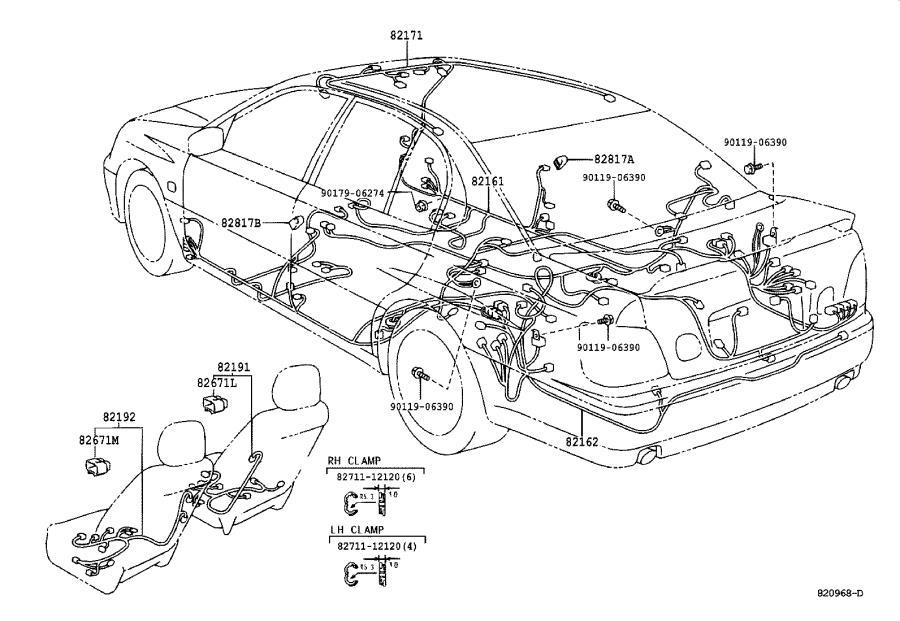 Lexus Gs 400 Wire  Engine