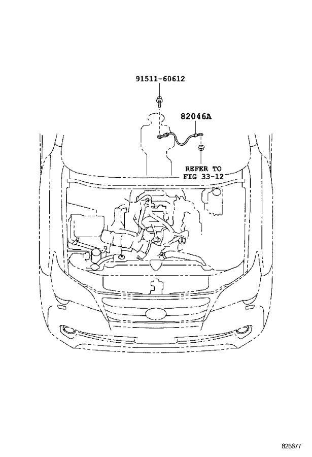 Lexus Gx 460 Wire  Console Box  Panel  Engine  Instrument