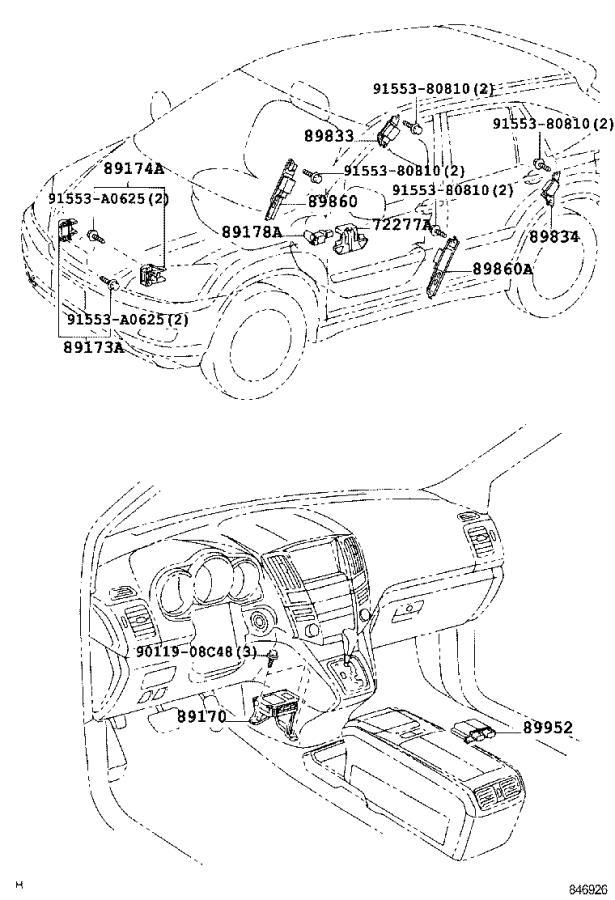Lexus Rx 400h Sensor Assembly  Side Air Bag  Right