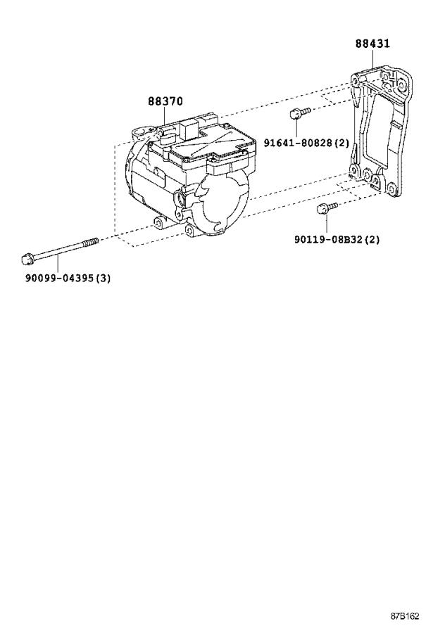 Lexus Rx 400h A  C Compressor Bracket