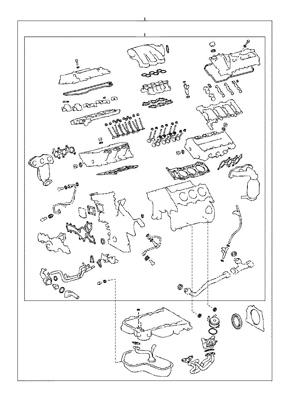 Lexus Es 350 Gasket Kit  Engine Valve Grind  Oil  Cooler  Package