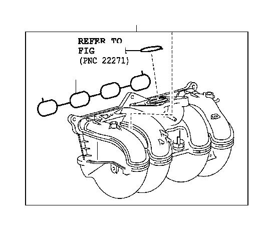 Lexus RX 350 Engine Intake Manifold. Engine Component That