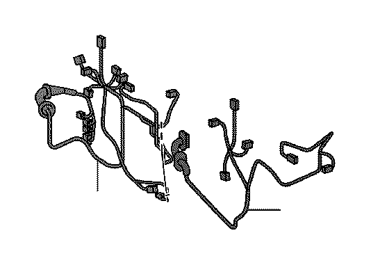 Lexus Nx 200t Wire  Rear Door  No  2  Engine  Clamp  Cable