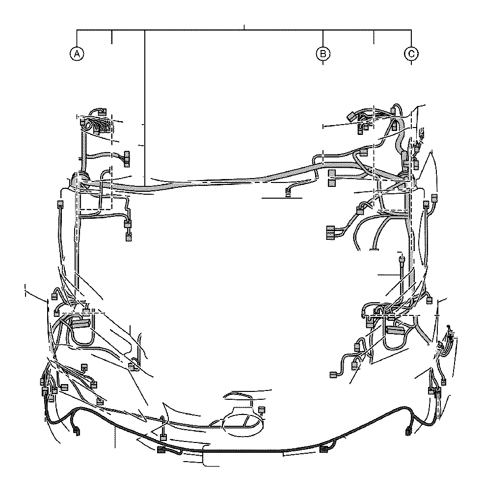 Lexus Nx 300h Wire  Engine Room  No  2  Clamp  Cable