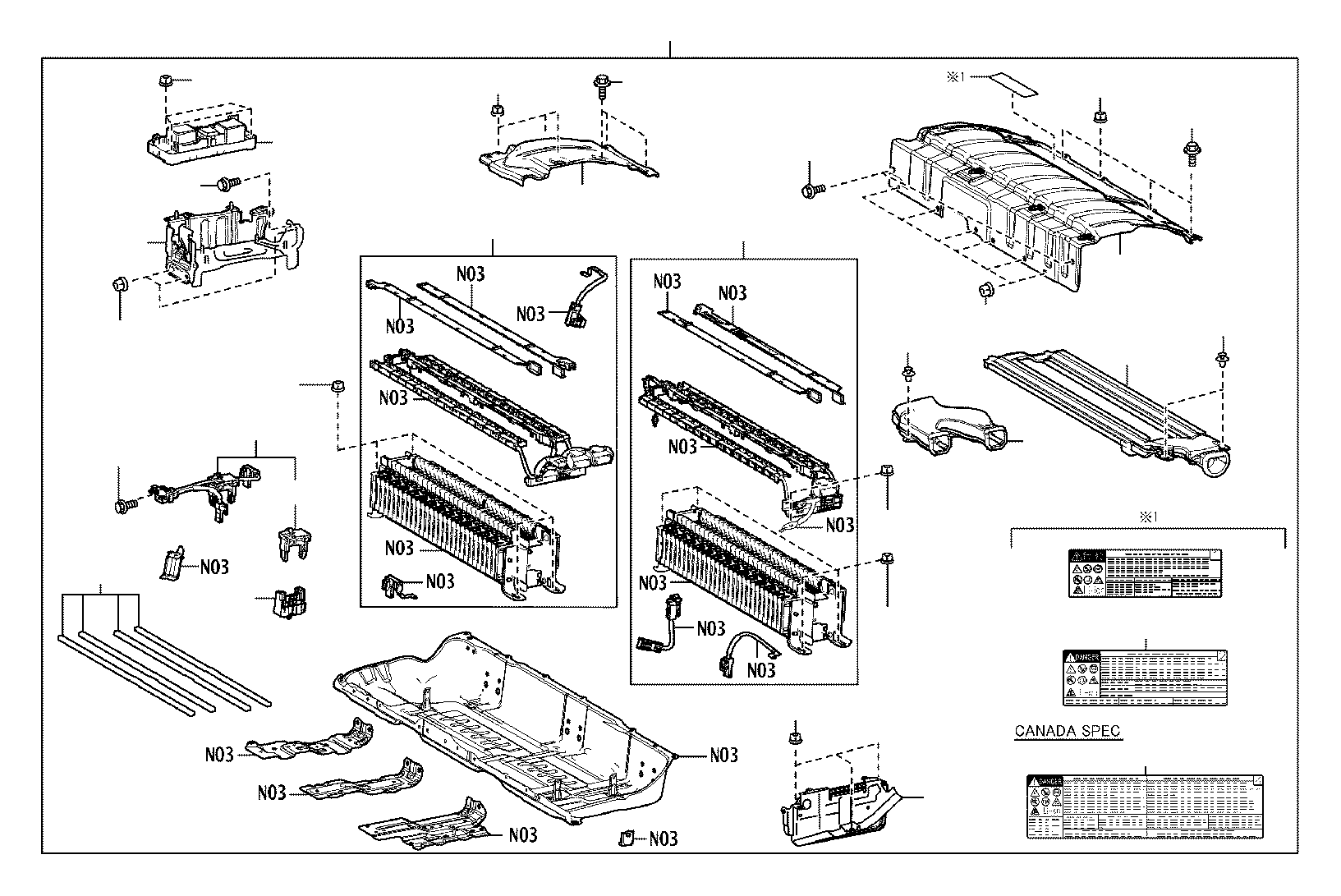 Lexus Es 300h Drive Motor Battery Pack Terminal Cover