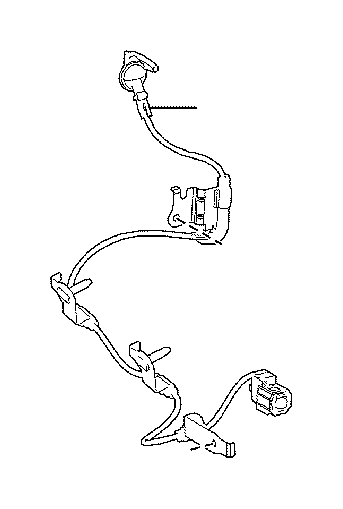Lexus Nx 300h Wire  Skid Control Sensor  Right  Electrical